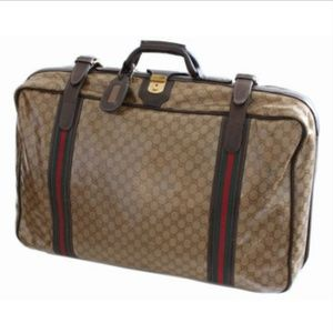 Gucci Suitcase Coated Canvas GG Logo Travel Bag